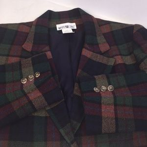 Vintage White Stag Wool Blend Blazer  /  Jacket